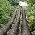 Wooden Sluce pipes to small hyrdo plant Jones Falls Ontario