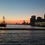 View from Brooklyn Bridge Park (near Pier 6) at Sunset