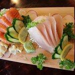 Sushi Ryu Restaurant - Sashimi Tuna & Salmon - The best!