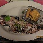 Their signature fish dish - local Haitian fare.