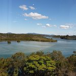 View from our lunch table at Nambucca RSL