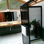 Large bathroom attached to the tents, lovely, lots of light, gets very hot through the day