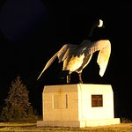 This is your welcome Statue of a Wawa Goose outside the Tim Hortons at 2am
