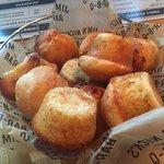 Corn bread muffins...warm...good...mmmh!