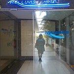 Vidraça de entrada ao hotel