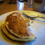 Denny's Breakfast 2 Pancakes with butter & syrup