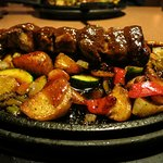 Denny's New Steak Skewer Skillet