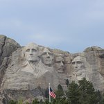 Mt. Rushmore from Iron Mountain Highway.