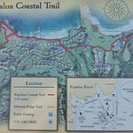 Coastal Trail map, near South parking lot & rest room