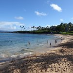 Kapalua Beach. Beginning of the South start of the trail