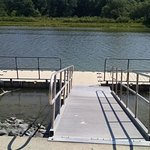 floating dock along the walking trail