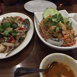 tom yum shrimp rice and classic thai chicken