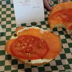 "The ""Lox"" if you like Salmon try it! (I dont like onions)"
