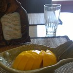 mango coconut sweet rice desert