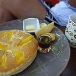 芒果鬆餅早餐