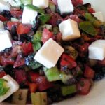 Greek salad--picture can't show how generous, fresh and tasty it is!