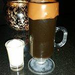 Delicious hot coffee drink!
