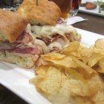 Panini Sandwich with Chips, RBG Bar and Grille, SEATAC, Washington