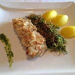 Filetto di ombrina in crosta di mandorle