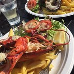 Half lobster and chips