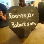 Our reserved table