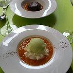 Moules & couteaux / moelleux et glace pomme estragon