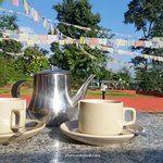 a cup of tea on terrace