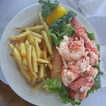 Lunch at Mattakeese Wharf...Lobster Roll was over the top. Best I have seen for $28