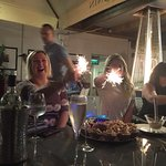 Sparklers for the birthday ladies