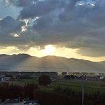 il tramonto visto dalla nostra camera