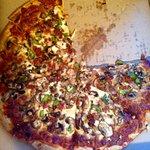 The meaty cheesy pizza.