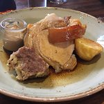 Excellent pork with apple sauce Sunday lunch