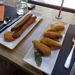 Fried asparagus and chicken