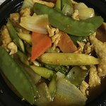 Curry Chicken: Tasty sauce plus includes asparagus - yum