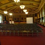 This is a room that they were setting up for a meeting in the City Hall.