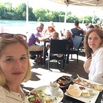 Fantastic lunch on the decking