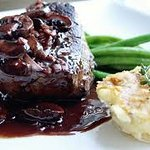 center cut certificate black Angus filet mignon in Barolo sauce