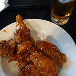 Sweat Chili Thai wings and Steamwhistle
