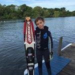 Mono skiing at Lakeside Ski and Wake