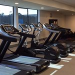 Part of fitness area with all new equipment