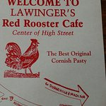 Red Rooster Cafe placemat