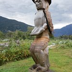 Beautiful totems in Bella Coola