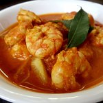 Shrimpcurry..large jumbo sized shrimps..blend of onion and tomato gravy.