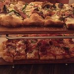 Fig & Roasted Onion pizza, Pepperoni pizza