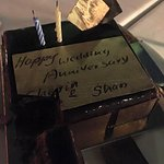 Anniversary cake from the Restaurant