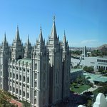 View of the Temple Square from the top of Joseph Smith Building
