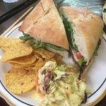 Veggie burger on Ciabatta roll