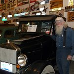 Marl brown and one of his old cars