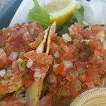 Fresh haddock tacos!
