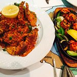 Crab Michi Chilli and King Prawn grill